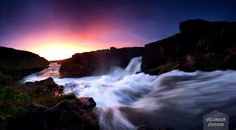 Barnafoss plays on the colours of the summer sun