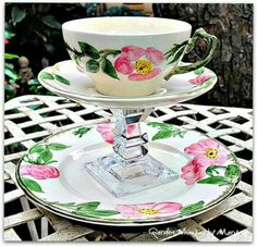 Tea cup and plates
