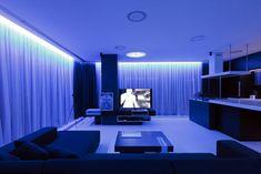 Love the interior design of this futuristic apartment - too bad it's in Bucharest, Romania.