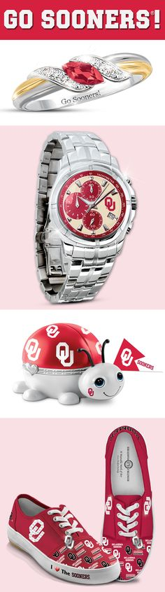 Sport your spirit with officially-licensed Oklahoma Sooners collectibles and jewelry! What's your pick? Oklahoma University Football, Ou Football, College Fun, College Tips, Cowboys Vs, Sports Fanatics, Father Time, Boomer Sooner, Buckeyes
