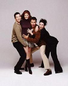 Will and Grace; one of the first sitcoms to cross over the line of the social norm and it was hilarious!