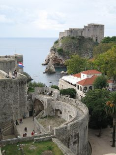 Dubrovnik - walking the wall was a great experience - this is a really good view of the kings landing inlet in the center with the castle up on the hill on the right