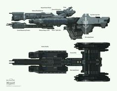 Halo 3 Spaceship designs and discards, Isaac Hannaford