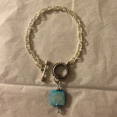 I just discovered this while shopping on Poshmark: Blue Stone charm bracelet. Check it out! Price: $18 Size: OS, listed by angelicasboutiq