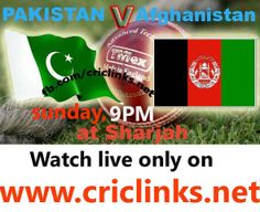 AFG vs Pak, Only T20I, Sharjah,,,Will be played today on Sunday .Afgnastan have chance to boost them to face pakistan only T20.match will be start 9.00 PM PST,9.30 IST ,watch live action only on http://www.criclinks.net