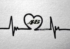 """""""Il 46 scorre nelle vene"""" by AliceDelpogetto - #vr46 - #heartbeat"""