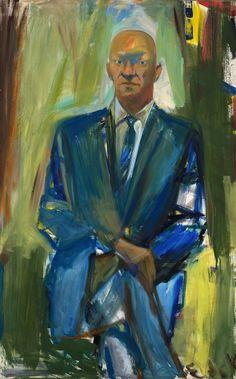 Elaine de Kooning, Portrait of Jack Greenbaum, 1959