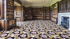 The new carpet in the library at Felbrigg Hall © National Trust / Paul Bailey