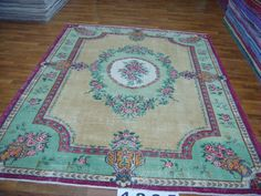 Vintage carpet with beautiful colors.  #vintage #rugs