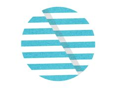 FFFFOUND! | Dribbble - Severed Stripes 2 by Aaron Bouvier