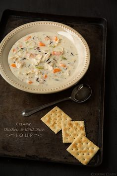 This homemade chicken and rice soup is a new favorite for us. The wild rice and creamy soup combine nicely into a great flavor. You have to try this Chicken and Wild Rice Soup recipe!