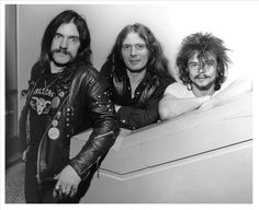 """The classic line-up (and might I add, the best line-up in the band's history IMO) of the mighty Motörhead. (l to r) Ian Fraser """"Lemmy"""" Kilmister, """"Fast"""" Eddie Clarke & """"Philthy"""" Animal Taylor."""