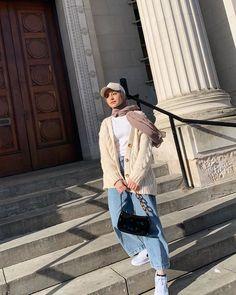 Modern Hijab Fashion, Street Hijab Fashion, Hijab Fashion Inspiration, Korean Street Fashion, Muslim Fashion, Modest Fashion, Urban Fashion, Fashion Outfits, Casual Hijab Outfit
