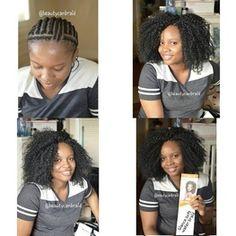 Crochet braids intrigue me Curly Crochet Hair Styles, Crochet Braid Styles, Crochet Braids Hairstyles, Braided Hairstyles, Crotchet Braids, Crotchet Styles, Crochet Braid Pattern, Braid Patterns, Black Girl Braids