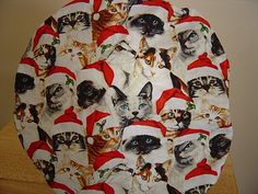 $9.99 This scrub hat is covered in the most ADORABLE LITTLE KITTIES, all decked out in SANTA'S FINEST! They are all wearing the cutest litt...