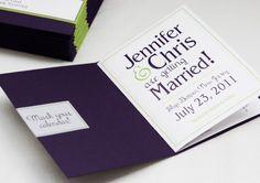 Jennifer + Chris's Modern Save the Date Booklet | Adori Designs