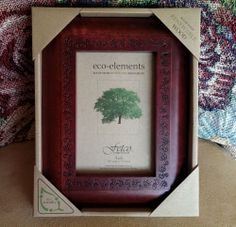 brand new fetco home decor eco elements renewable wood picture frame 4x 6
