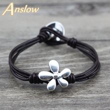 US $2.41     Buy Jewelry At Wholesale Prices!     FREE Shipping Worldwide     Get it here ---> http://jewelry-steals.com/products/anslow-brand-top-quality-2017-charm-bijoux-unisex-flowers-leather-bracelet-for-women-men-mother-fathers-day-gift-low0613lb/    #bracelets