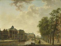 Gezicht op de Houtmarkt te Amsterdam, Hendrik Keun (toegeschreven aan), ca. 1760 - ca. 1787