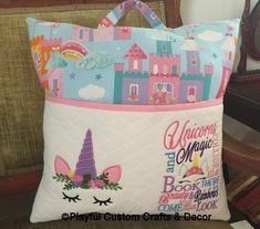 Save Bathroom Storage Space With Bathroom Linen Cabinets Brother Embroidery Machine, Sewing Machine Embroidery, Embroidery Applique, Book Pillow, Reading Pillow, Unicorn Pillow, Pillow Forms, Diy And Crafts, Pillows