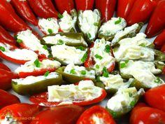 Plněné chilli papričky smetnovým sýrem Jalapeno Poppers, Caprese Salad, Ricotta, Food, Essen, Meals, Yemek, Insalata Caprese, Eten