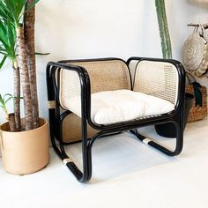 Rattan Lounger, Rattan Loveseat, Outdoor Chairs, Outdoor Furniture, Outdoor Decor, Handmade Furniture, Seat Cushions, Vintage Designs, Natural