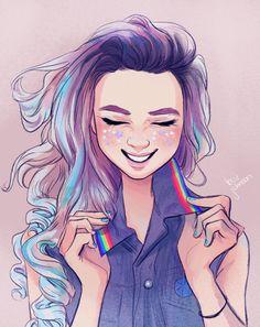 Character Design - April 2018 on Behance Art Gay, Lesbian Art, Lesbian Pride, Character Design Challenge, Character Design Girl, Art Lesbien, Animation, Male Character, Harry Potter Disney