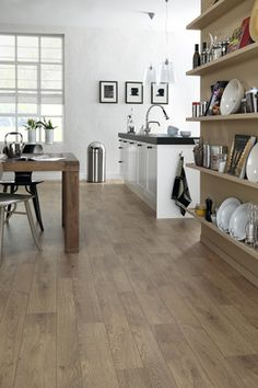 Forbo offers high quality floor coverings for your home. From natural Marmoleum flooring to strong & durable LVT. Vinyl Flooring Kitchen, Wood Tile Floors, Wood Floor, Kitchen Interior, New Kitchen, Kitchen Decor, Kitchen Ideas, Cushioned Vinyl Flooring, Best Flooring
