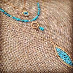 Turquoise layers by Stone Poetry Jewelry.