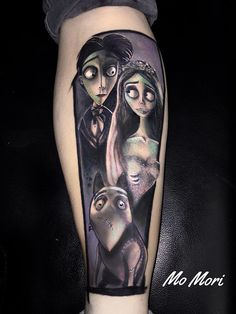 Corpse Bride Burton Tattoo https://www.facebook.com/momoritattoo/