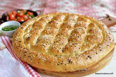 Pâine turcească - rețeta de turtă foarte pufoasă cu model cu romburi | Savori Urbane Empanadas, Camembert Cheese, Dairy, Ice Cream, Bread, Cake, Chutney, Food, Sport