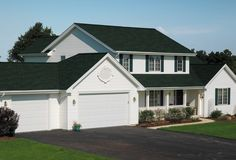 Houses With Green Shingle Roofs Certainteed Brand