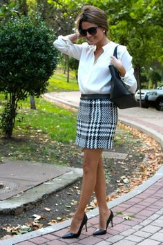 I'm really liking these business looks where everything's pretty simple save for one statement piece like this skirt.