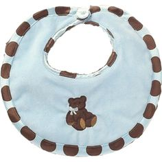 Blue Posh Dots Bib