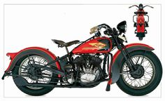 """When the original D-series Harley were introduced in they were nicknamed the """" three-cylinder Harleys """" because their vertically . Harley Davidson Wla, Davidson Bike, Classic Harley Davidson, Vintage Harley Davidson, Harley Davidson Motorcycles, Hd Motorcycles, American Motorcycles, Vintage Motorcycles, Thor"""