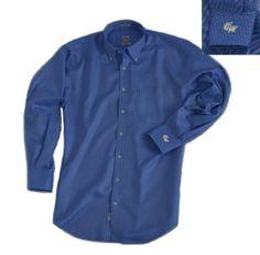 George Washington University Nano-Luxe Classic Button-Down Shirt in Blue - George Washington University - Collegiate   Peter Millar $123.00