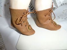 LEATHER DOLLS BOOTS FOR ANTIQUE GERMANY OR FRENCH DOLL /Puppenstiefelchen