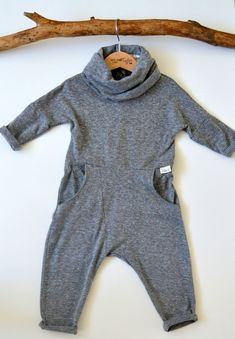 Baby/Toddler Boys cowl neck jumpsuit by ThePetiteTaylor on Etsy