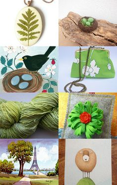 oohlalalampshades featured my hand dyed green cotton chenille