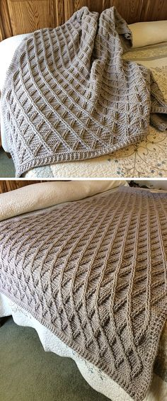 Knitted Afghans, Crochet Blanket Patterns, Knitting Patterns Free, Baby Knitting, Knitted Baby, Knitted Dolls, Free Knitting, Cable Knit Blankets, Cable Knit Throw