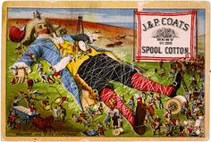 Late 1800s ad: Gulliver and the Lilliputians
