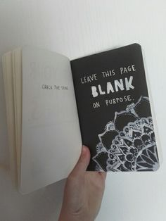 Wreck this journal, leave this page blank on purpose || @marleenvdbx