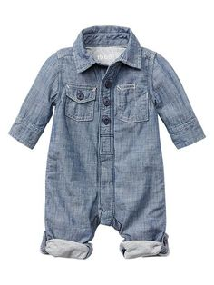 Chambray one-piece Product Image- for uncle ekek's wedding
