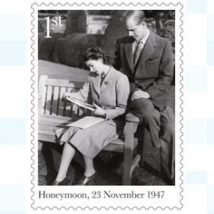 A new set of stamps is being issued to commemorate the 70th wedding anniversary of the Queen and Duke of Edinburgh. The six stamps include an image of the royal couple on their honeymoon in the grounds of Broadlands, Romsey, Hampshire, looking at photographs of their wedding and one of the royal couple walking down the aisle of Westminster Abbey after their wedding service on November 20 1947.