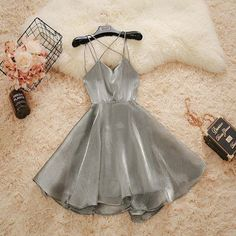 2020 beautiful sleeveless v-neck backless tulle homecoming dress,spaghetti-straps racer-back school event dress · Sweet Baby · Online Store Powered by Storenvy Elegant Ball Gowns, Elegant Dresses, Pretty Dresses, Beautiful Dresses, Awesome Dresses, Elegant Homecoming Dresses, Elegant Gown, Dance Outfits, Dress Outfits
