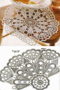 Hobby na Stylowi. Tina's handicraft : 82 designgs & patterns for tablecloth Blanket crochet pattern home Learn to knit and Crochet with 30 designs for table Salvabrani- will link to many patterns, also xmas decorations very lacy looking as displayed; Crochet Circles, Crochet Doily Patterns, Crochet Art, Thread Crochet, Knit Or Crochet, Irish Crochet, Crochet Designs, Crochet Crafts, Crochet Stitches