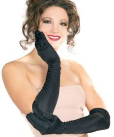 Black Friday Deal Secret Wishes  Costume Long Black Nylon Gloves, Black, One Size from Rubie's Costume Co Cyber Monday
