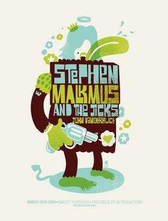 Stephen Malkmus Concert Poster by Methane Studios
