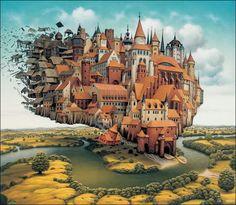 絵の中を探検したくなる、Jacek Yerka氏の描く幻想的なファンタジーイラスト80枚 | インスピレーション‐美麗画像(写真・イラスト・CG)を毎日紹介