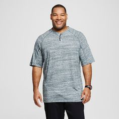 Men's Big & Tall Henley T-Shirt - C9 Champion - Forest Grove Heather 5XBT